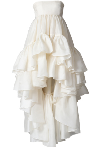 [Houghton]<br>ラッフルスカート ドレス(CASSIDEE)(34)-アイボリー