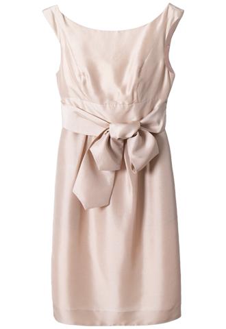 ピンクベージュのカラーのJENNY YOOのミニドレス