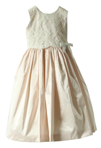 [Joan Calabrese]<br>レース 子供ドレス(100㎝)-ホワイト/ピンク