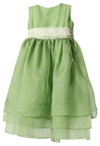 [Jenny Yoo]<br>チュール 子供ドレス(100㎝)-グリーン