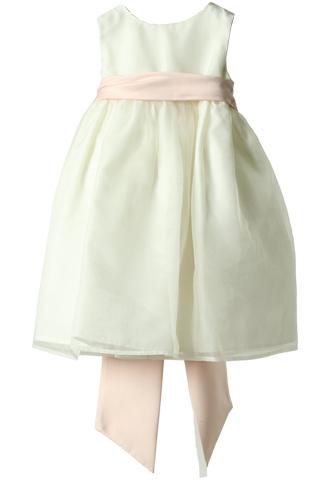 [Us Angels]<br>チュール 子供ドレス(90㎝)-ホワイト/ピンク