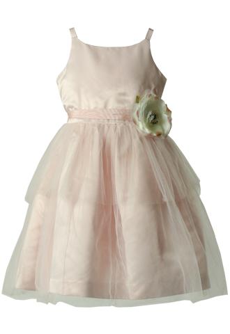 [Us Angels]<br>ティアード チュール 子供ドレス(110㎝)-ピンク