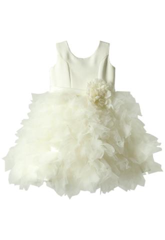 [Us Angels]<br>ボリュームチュール 子供ドレス(100cm)-ホワイト