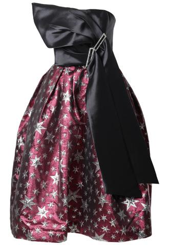 [Khoon Hooi]星柄ボリュームドレス-ブラック/レッド