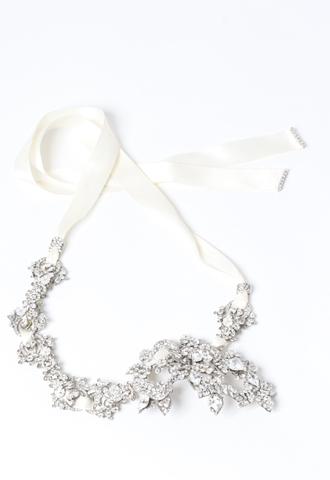 [Maria Elena]<br>Ribbon Headband-Silver