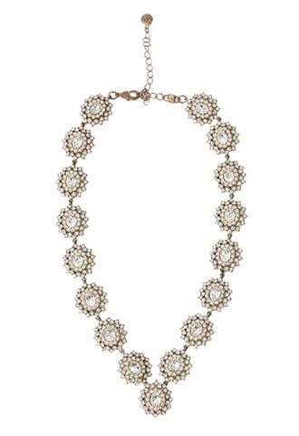[Nicole Miller]<br>Flower Necklace-Gold