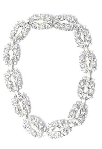 [Maria Elena]<br>Jeweled Necklace-Silver