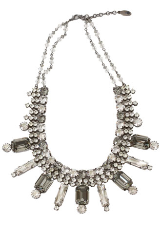 [Creations Georgianni]<br>Jeweled Necklace-Silver