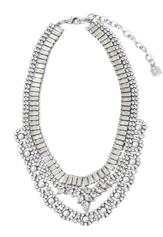 [Dannijo]<br>Jeweled Necklace-Silver