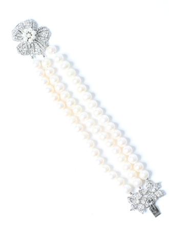 [Siman Tu]<br>Pearl Bracelet-Ivory