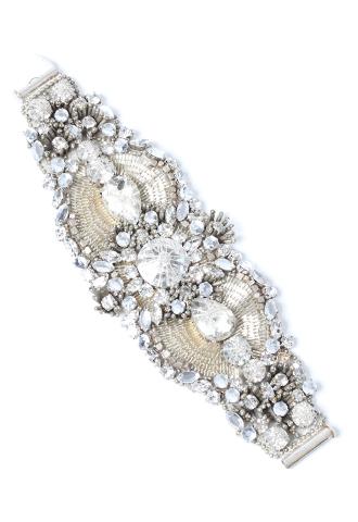 [Jenny Packham]<br>Crystal Bracelet-Silver