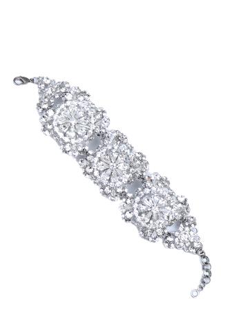 [Erica Koescer]<br>Jeweled Bracelet-Silver