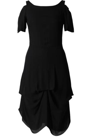 [Morgane Le Fay]<br>Boatneck Dress-Black