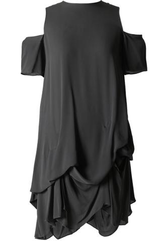 [Morgane Le Fay]<br>Boatneck Dress-Gray