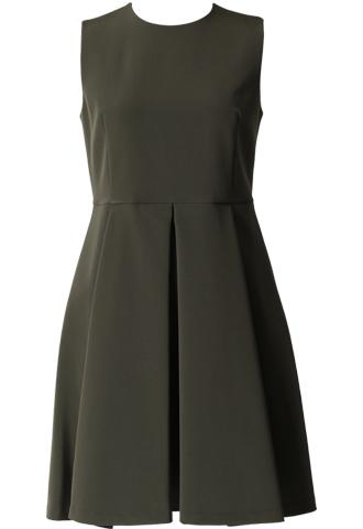 [HAUTE Original]<br>Fit&Flare Dress-Khaki