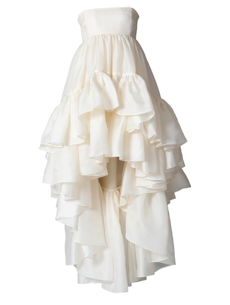 [Houghton]<br>ラッフルスカート ドレス(CASSIDEE)(36)-アイボリー
