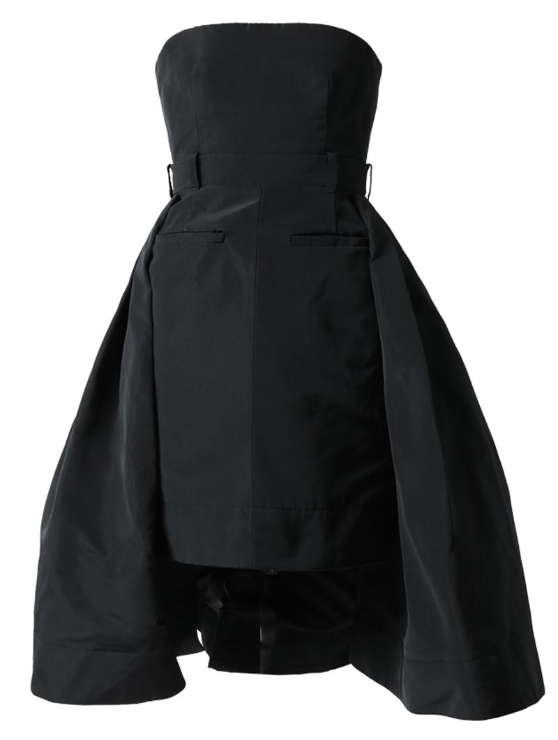 [Vera Wang]<br>ストラップレス ドレス-ブラック