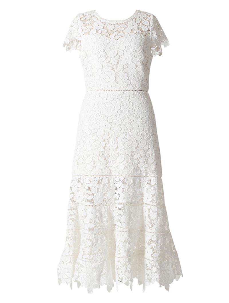 [Joie]<br>レース ドレス-ホワイト