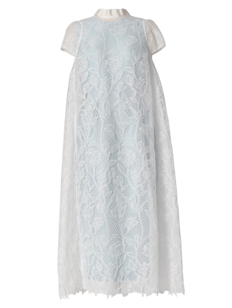 [Khoon Hooi]<br>バックリボンレース ドレス(36)-ホワイト/ブルー