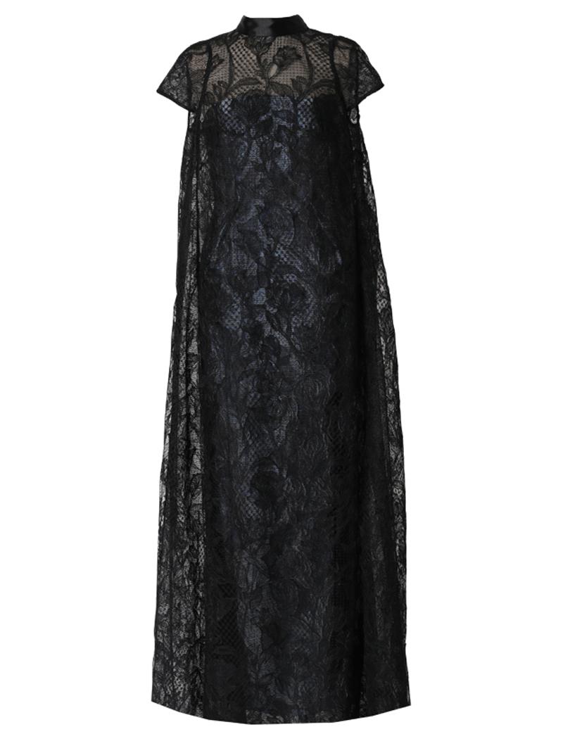 [Khoon Hooi]<br>レースロング ドレス(38)-ブラック/ブルー