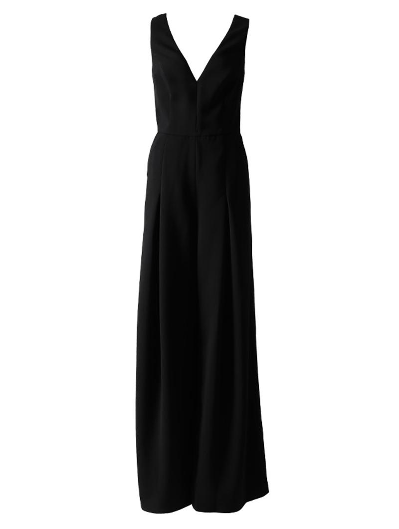 [Amsale]<br>ジャンプスーツ(丈長)-ブラック