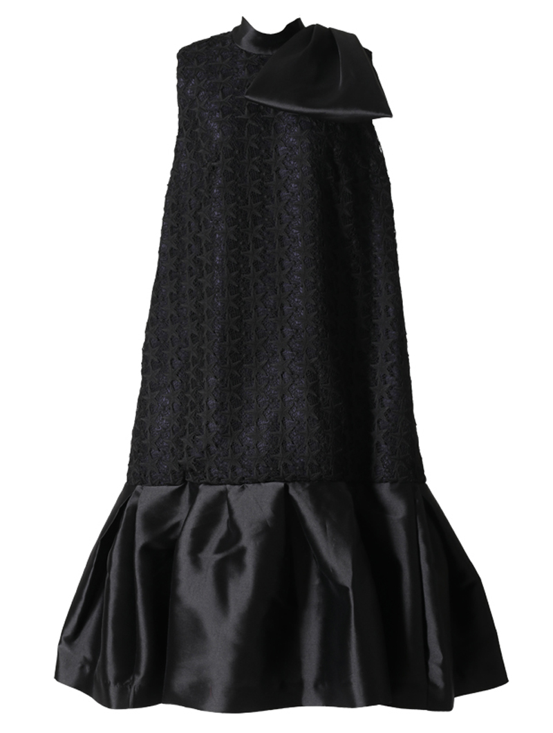 [Khoon Hooi]<br> 星柄 レースドレス(38)-ブラック/ネイビー