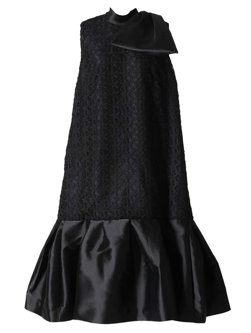 [Khoon Hooi]<br>星柄 レースドレス(40)-ブラック/ネイビー