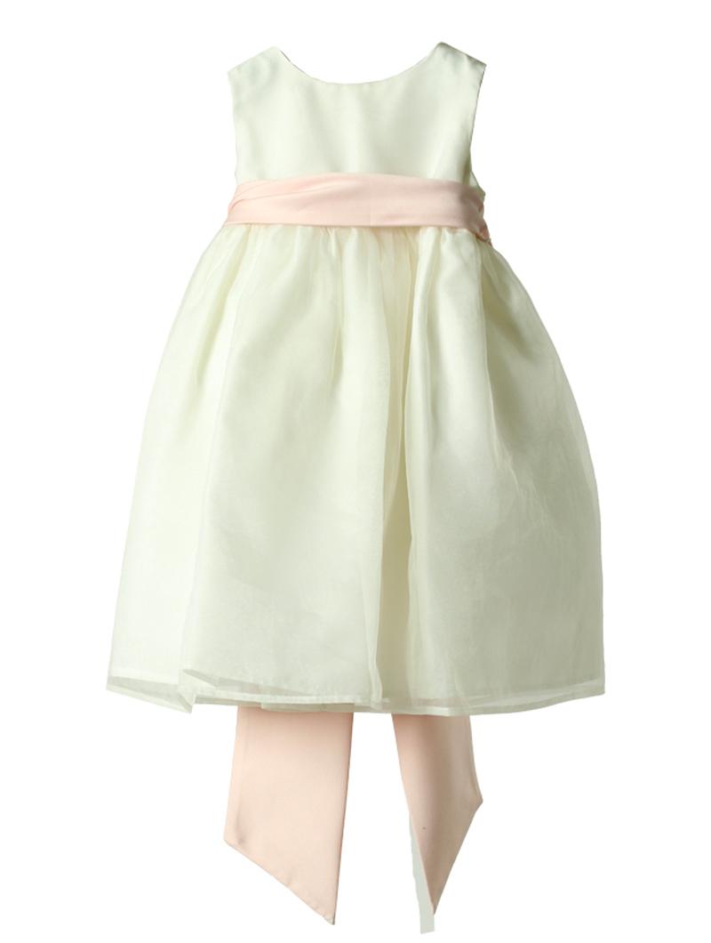 [Us Angels]<br>チュール こどもドレス(90cm)-ホワイト/ピンク