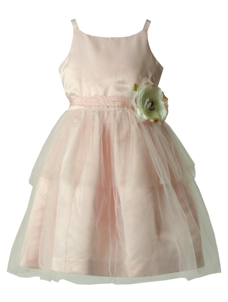 [Us Angels]<br>ティアード チュール こどもドレス(110cm)-ピンク