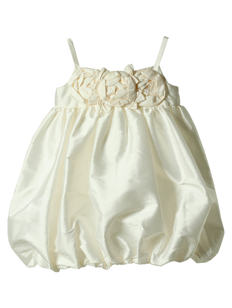 [Us Angels]<br>バルーンスカート 子供ドレス(110cm)-ホワイト