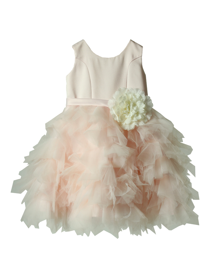 [Us Angels]<br>ボリュームチュール 子供ドレス(100cm)-ピンク