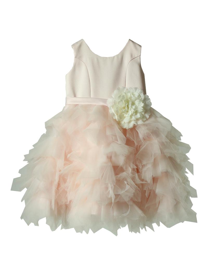 [Us Angels]<br>ボリュームチュール こどもドレス(100cm)-ピンク