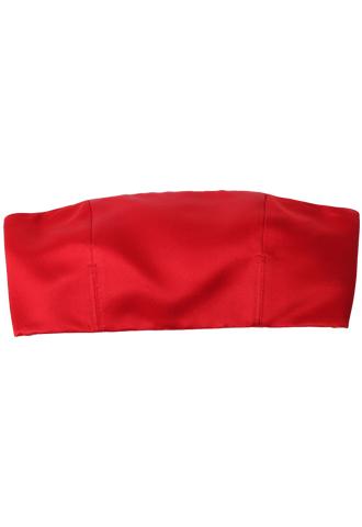 [Katie Ermilio]<br>Bra Top-Red