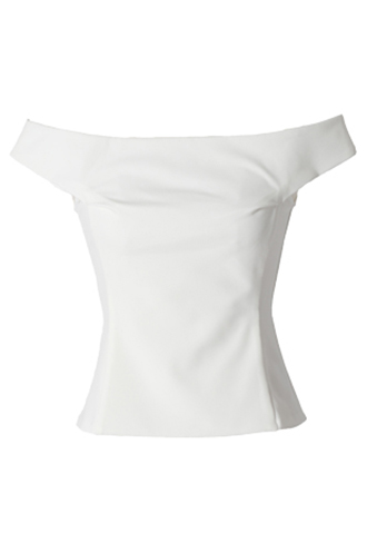 [HAUTE Original]<br>Off The Shoulder Tops-White