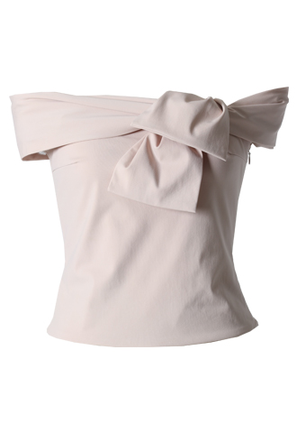 [HAUTE Original]<br>Off The Shoulder Top-Pink