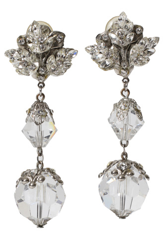 [Maria Elena]<br>Crystal Ball Earrings-Crystal
