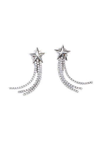 [Erickson Beamon]<br>Star Jeweled Earrings-Silver