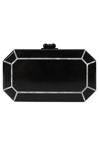 [Edie Parker]<br>Acrylic Clutch Bag-Black