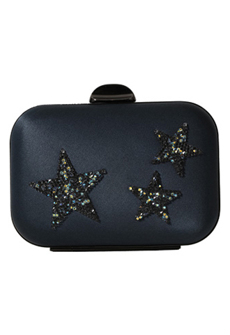 [Whiting&Davis]<br>Jeweled Clutch Bag-Black