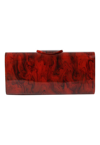 [Edie Parker]<br>Acrylic Clutch Bag-Brown
