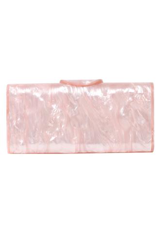 [Edie Parker]<br>Acrylic Clutch Bag-Pink
