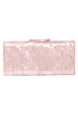 [Edie Parker]<br>Acrylic Clutch Bag-Pink