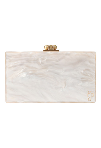 [Edie Parker]<br>Acrylic Clutch Bag-Ivory
