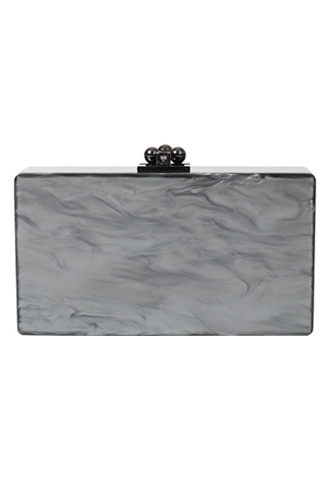 [Edie Parker]<br>Acrylic Clutch Bag-Gray