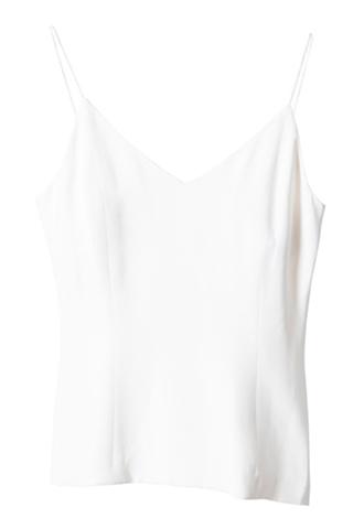 [Houghton]<br>Silk Crepe Shelth Tops-White