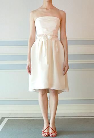 【Monique Lhuillier】SILK FAILLE DRESS