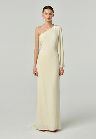 [Nicole Miller]<br>One Shoulder Dress
