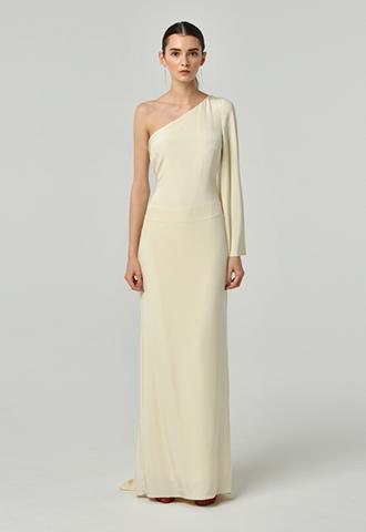 [Nicole Miller]<br>One Shoulder Dress
