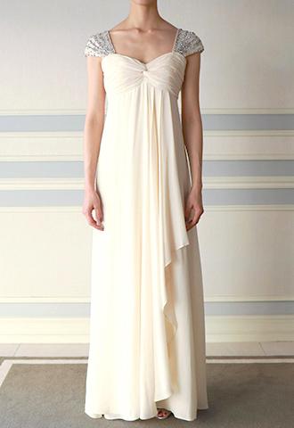 【Nicole Miller】SILK GEORGETTE SHEATH DRESS