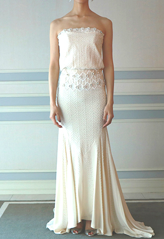 【Nicole Miller】EMBROIDERED SHEATH DRESS